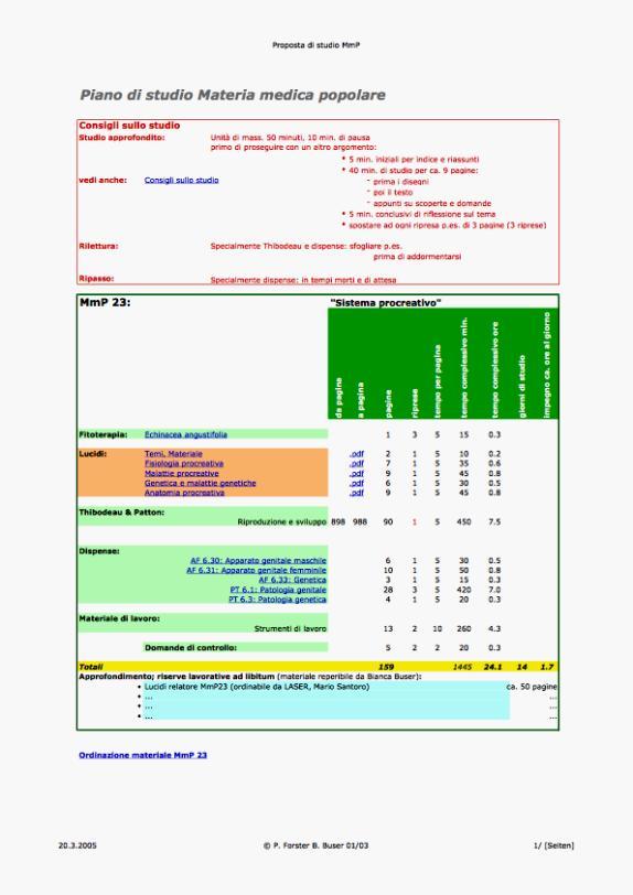 Piano di studio mmp 23 for Piano di studio
